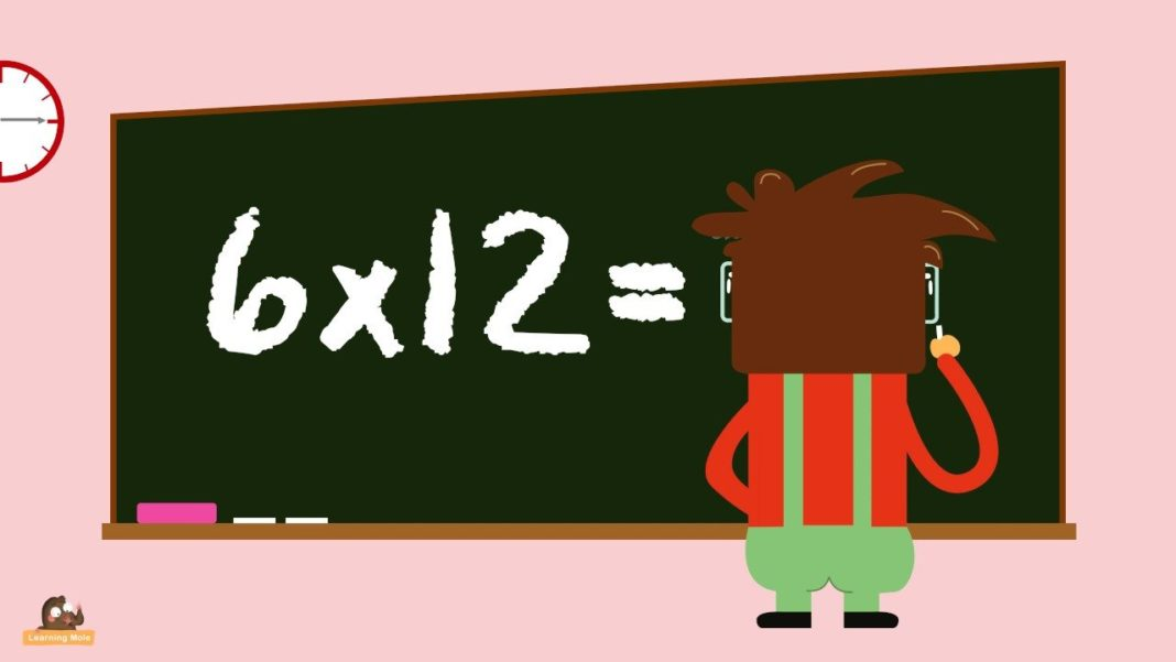 Multiplication Facts for Kids 6x